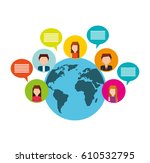 social media network icons... | Shutterstock .eps vector #610532795