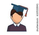 graduated avatar character... | Shutterstock .eps vector #610533041