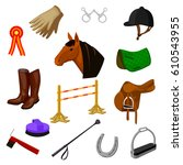 cartoon color icons of...   Shutterstock .eps vector #610543955