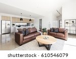 open plan scandinavian styled...   Shutterstock . vector #610546079