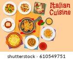 italian cuisine pasta icon... | Shutterstock .eps vector #610549751