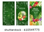 vegetarian restaurant menu...   Shutterstock .eps vector #610549775
