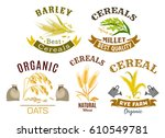 wheat  rye  oat and millet icon ... | Shutterstock .eps vector #610549781