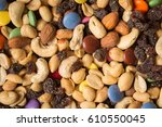 Pile Of Trailmix  Nuts  Raisin...