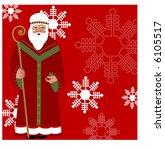 father christmas vector | Shutterstock .eps vector #6105517