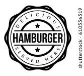 hamburger vintage stamp vector | Shutterstock .eps vector #610556519