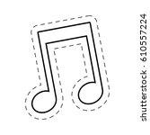 music note cut line vector...   Shutterstock .eps vector #610557224