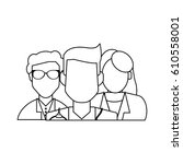 group of faceless doctors icon | Shutterstock .eps vector #610558001