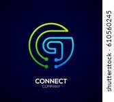 letter g logo  circle shape... | Shutterstock .eps vector #610560245