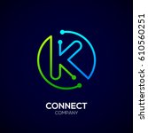 letter k logo  circle shape...