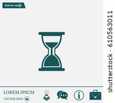 hour glass vector icon | Shutterstock .eps vector #610563011