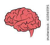 human brain icon image    Shutterstock .eps vector #610565591