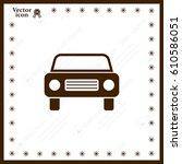 car icon | Shutterstock .eps vector #610586051