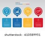 modern info graphic template... | Shutterstock .eps vector #610589951