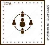 group of people sign icon | Shutterstock .eps vector #610592309