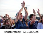 barcelona   jun 5  people... | Shutterstock . vector #610600025