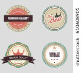 retro vintage badge and label... | Shutterstock .eps vector #610608905