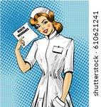 vector illustration of nurse...   Shutterstock .eps vector #610621241
