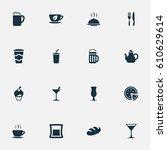 vector illustration set of...   Shutterstock .eps vector #610629614