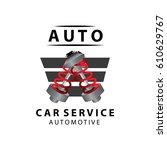 car service logo  vector... | Shutterstock .eps vector #610629767