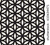 vector seamless geometric... | Shutterstock .eps vector #610634471