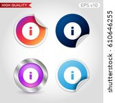 info icon. button with info... | Shutterstock .eps vector #610646255