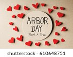 arbor day message with handmade ... | Shutterstock . vector #610648751