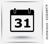 calendar sign icon  vector... | Shutterstock .eps vector #610648979