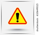 warning attention with... | Shutterstock .eps vector #610649015