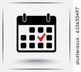 calendar sign icons  vector... | Shutterstock .eps vector #610650497