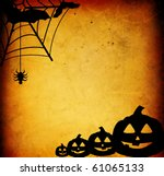 halloween pumpkins with pumpkin ... | Shutterstock . vector #61065133