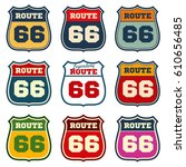 route 66  vintage us highway... | Shutterstock .eps vector #610656485