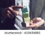 horizontal close up of... | Shutterstock . vector #610656881