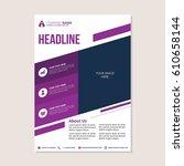 a4 flyer design template.... | Shutterstock .eps vector #610658144