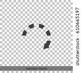 dotted bar circle arrow icon.