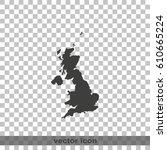 united kingdom of great britain ... | Shutterstock .eps vector #610665224