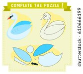 jigsaw puzzle education game.... | Shutterstock .eps vector #610666199