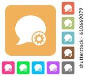 blog comment settings flat... | Shutterstock .eps vector #610669079