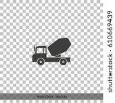 truck concrete mixer flat... | Shutterstock .eps vector #610669439