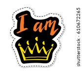 patch  badge or sticker... | Shutterstock .eps vector #610672265