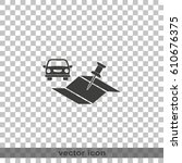 car and pin on the map icon.