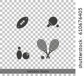 sport equipment icon.   Shutterstock .eps vector #610676405