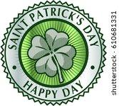 happy saint patrick's day... | Shutterstock .eps vector #610681331