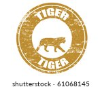 tiger chinese zodiac sign in... | Shutterstock .eps vector #61068145