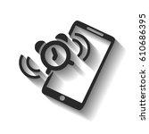 alarm clock is calling on the... | Shutterstock .eps vector #610686395