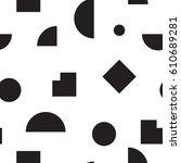 vector geometric seamless... | Shutterstock .eps vector #610689281