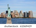 the landmark statue of liberty... | Shutterstock . vector #61069429