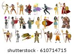 fighters knight warriors... | Shutterstock .eps vector #610714715