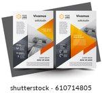 flyer brochure design size a4... | Shutterstock .eps vector #610714805
