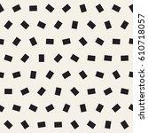 geometric scattered shapes.... | Shutterstock .eps vector #610718057